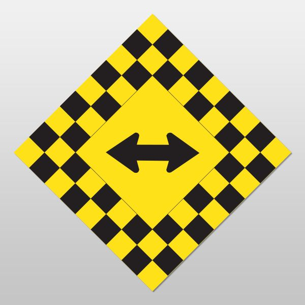 CHECKERBOARD Sign(Both Directions)