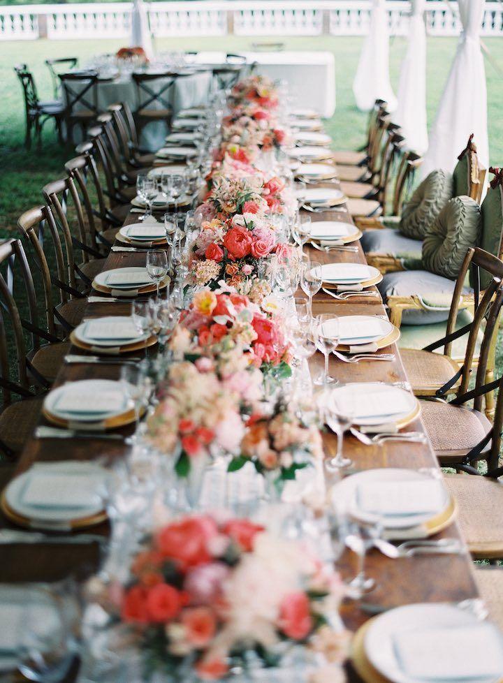 Featured Photographer: Anne Robert Photography; wedding reception centerpiece