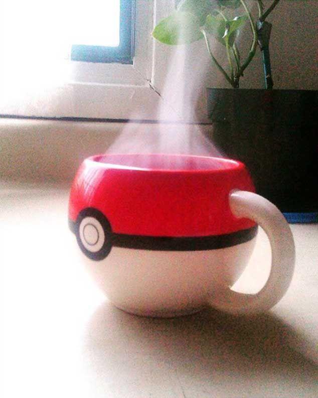 Pokeball mug. Too bad it's not a quickball