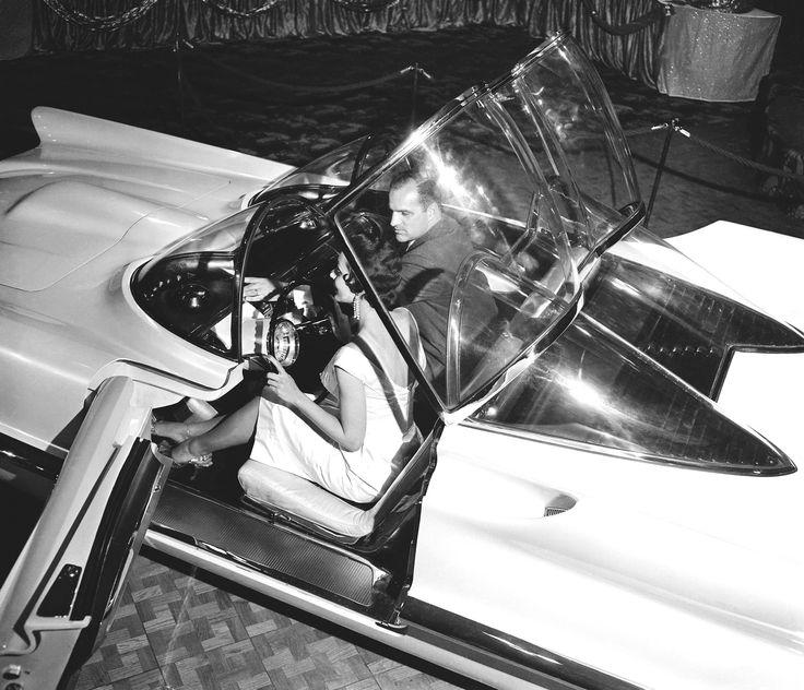 Bill Schmidt - Lincoln Mercury Division's chief stylist from 1945 to 1955 - designed Lincoln Futura and Luigi Segre - owner of GHIA in Torino - built it.  The Lincoln Futura became the BATMOBILE