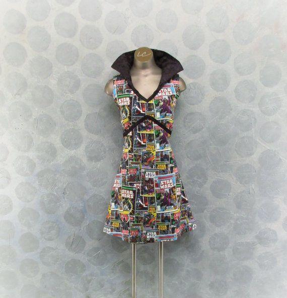Star Wars dress, Cosmic comic dress, Comic con dress, Sci-fi dress, women's size small