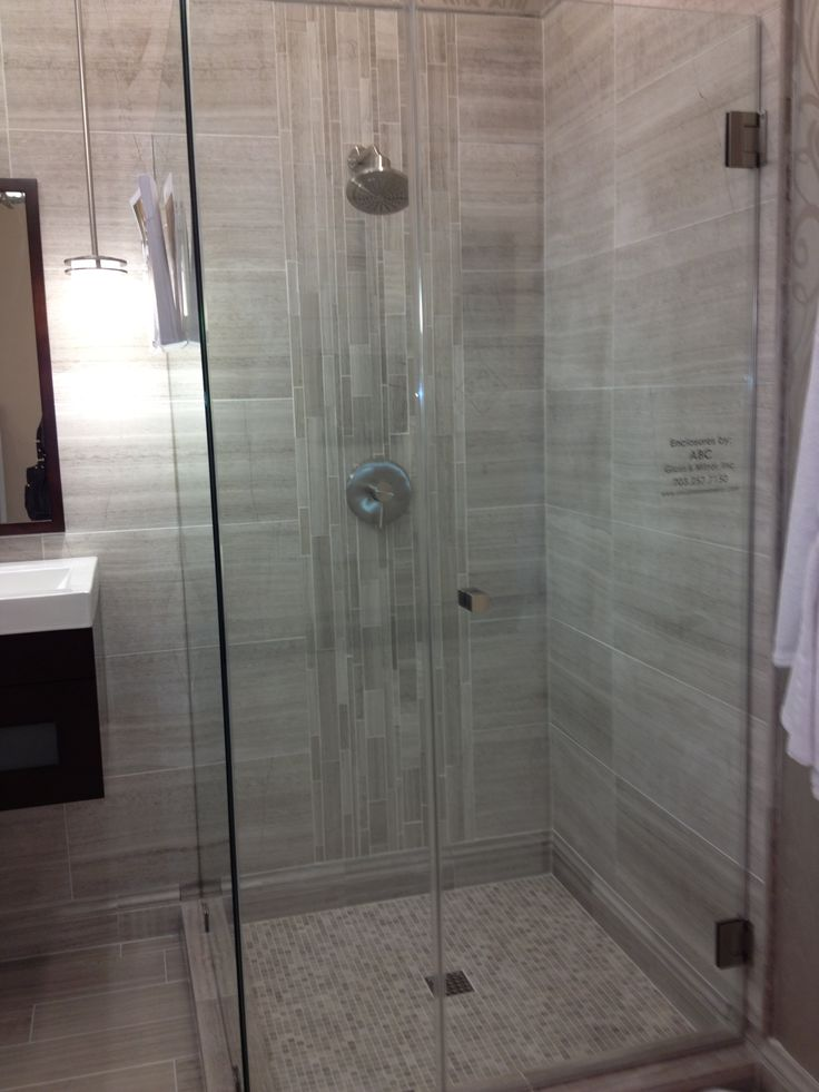 Vertical Tile Shower Wall Bliss Bathroom Pinterest