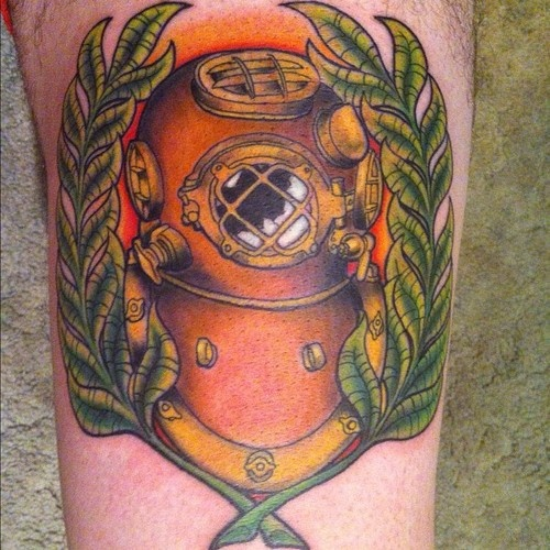 38 best images about diving helmet on pinterest for Tattoo classes online free