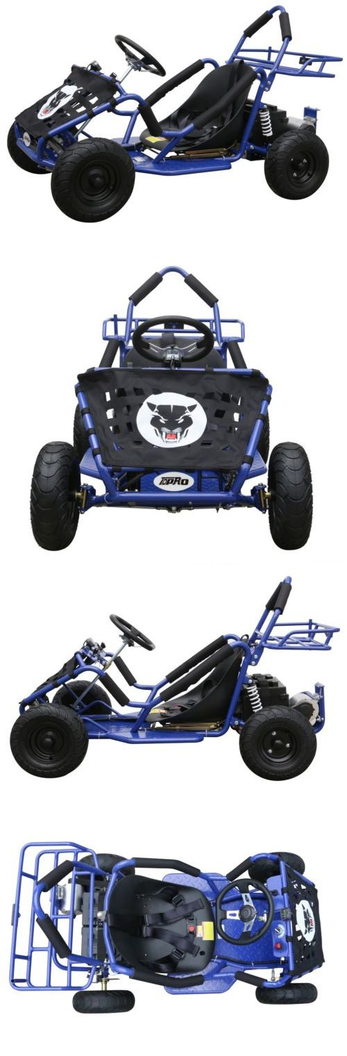 Complete Go-Karts and Frames 64656: 48V 1000 Watt Electric 3 Speed Off Road Go Kart For Kids Blue BUY IT NOW ONLY: $759.99