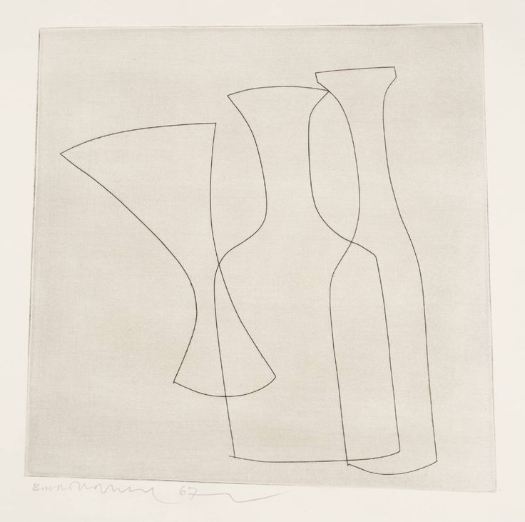Ben Nicholson OM '2 bottles & glass', 1967 © Angela Verren Taunt 2014. All rights reserved, DACS