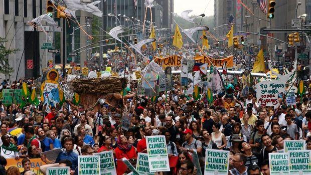 Tízezrek tiltakoztak a klímaváltozás ellen