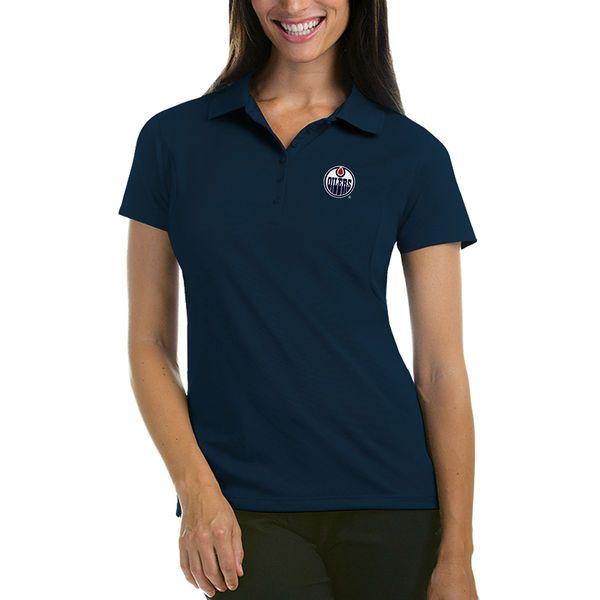 Edmonton Oilers Antigua Women's Pique Performance Polo - Navy - $49.99