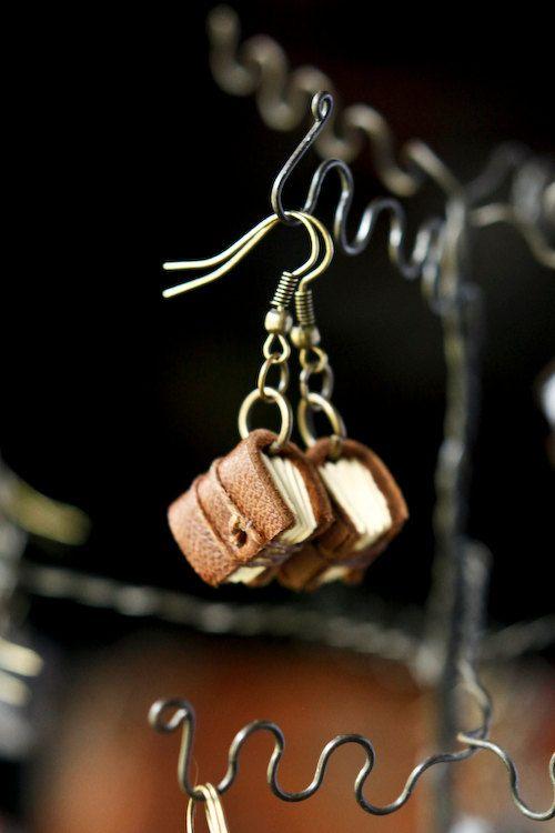 Mini book earrings!!!