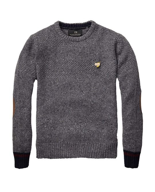 Crew Neck With Contrasting Cuffs
