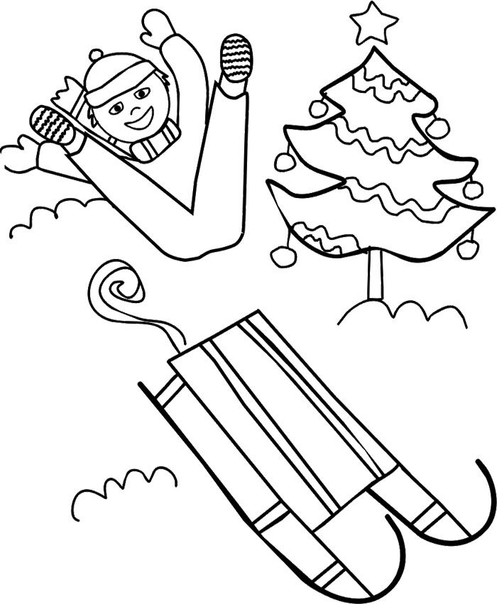 winter boy coloring pages - photo#27