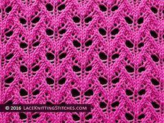 Lace Knitting. #25 Faun's Eyes Lace stitch pattern