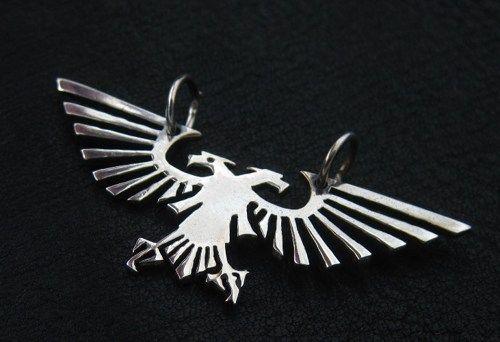 Silver Imperial Eagle pendant W40K Warhammer 40000 Aqila
