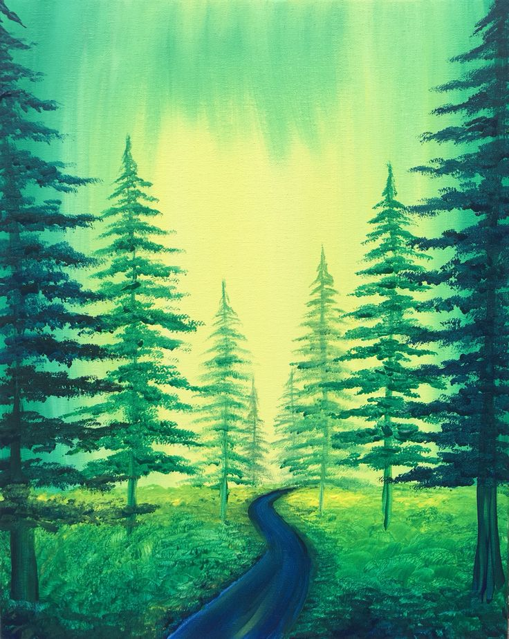 Emerald forest malen pinterest malen for Oil painting lessons near me
