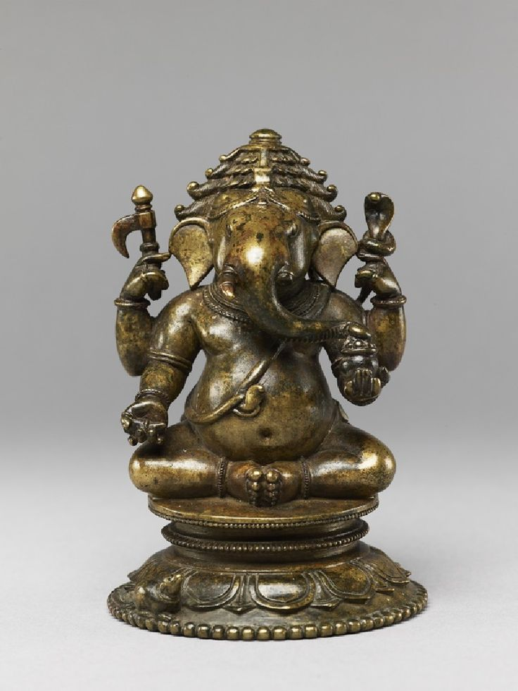 Ganesha, Orissa, 16th cent, A son of Shiva and Parvati, Ganesha is one of the most popular of Hindu deities. Known as the Lord of New Beginnings, offerings are presented to him at the start of any new venture or journey. He is also the god of wisdom and learning, the bestower of wealth and the remover of obstacles. via jameelcentre.ashmolean.org