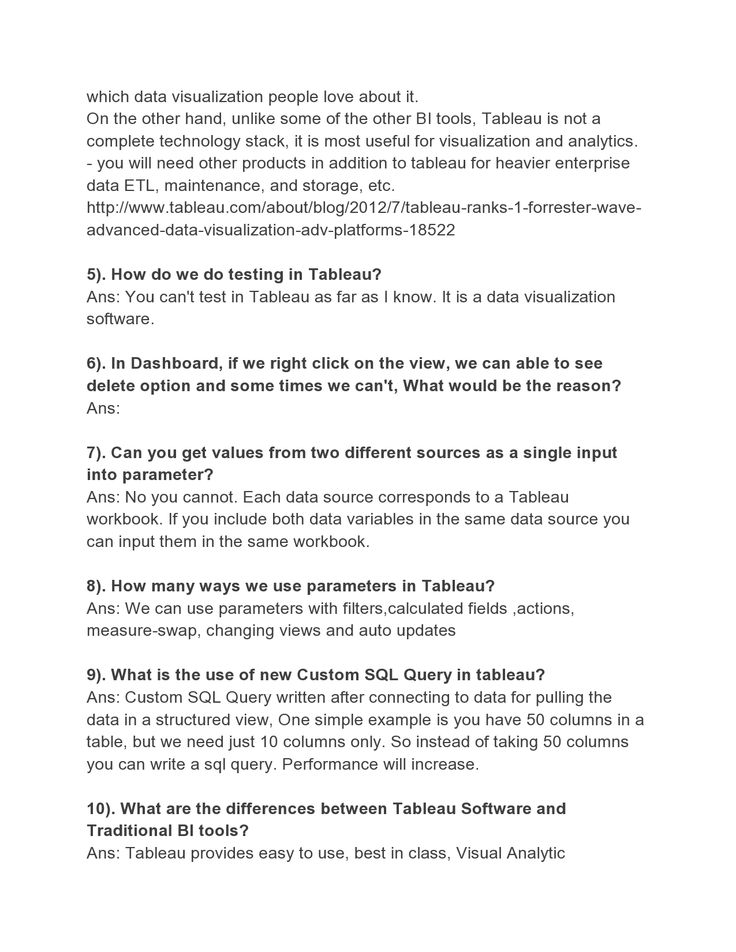 Here Are Some Interivew Questions On Tableau.VTP Provides Tableau Online  Training.Join VTP