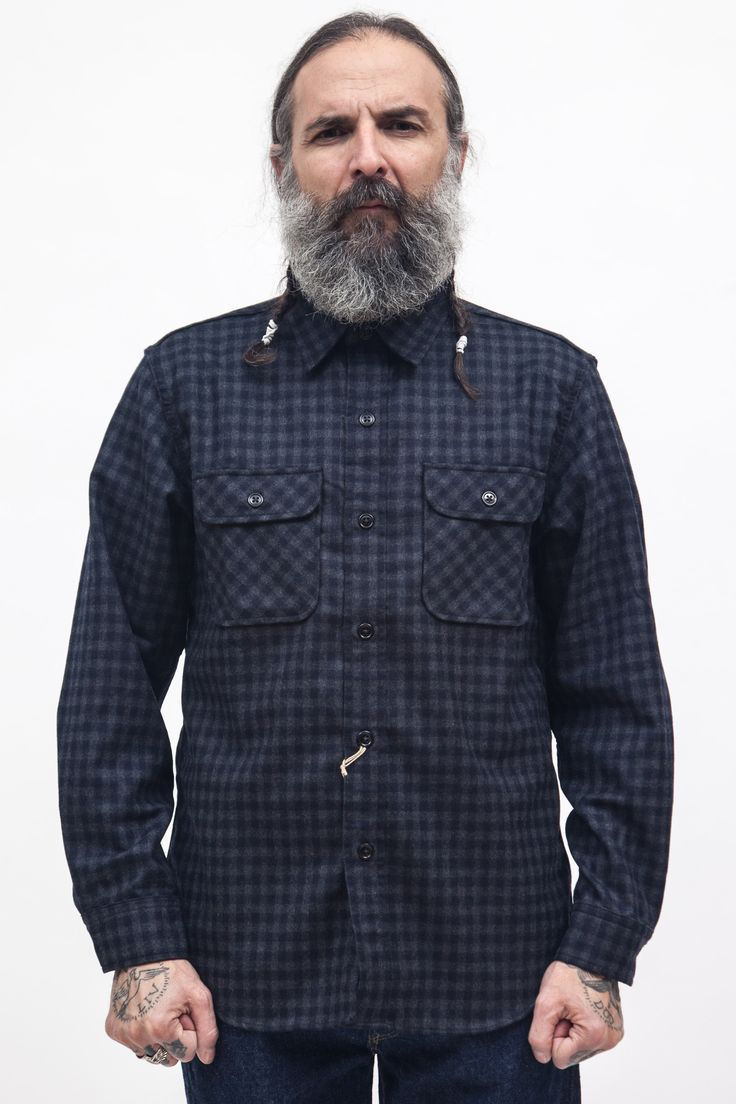 Orslow - Check Shirt Wool Polyester