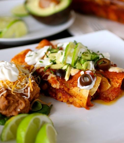 Sweet Potato and Black Bean Enchiladas | Vegetarian + Vegan | Pintere ...