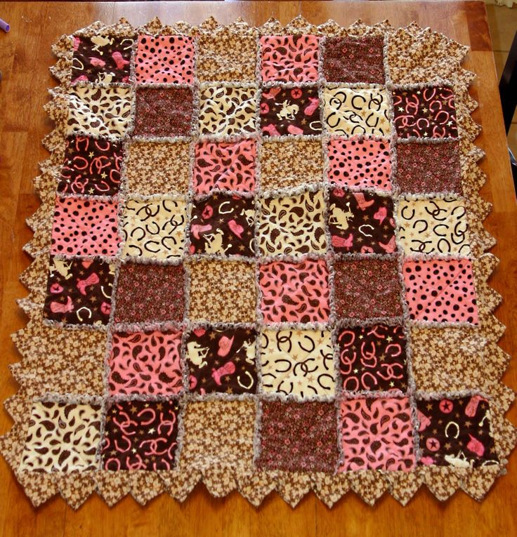 Free Rag Quilt Patterns Flannel Rag Quilt Created With