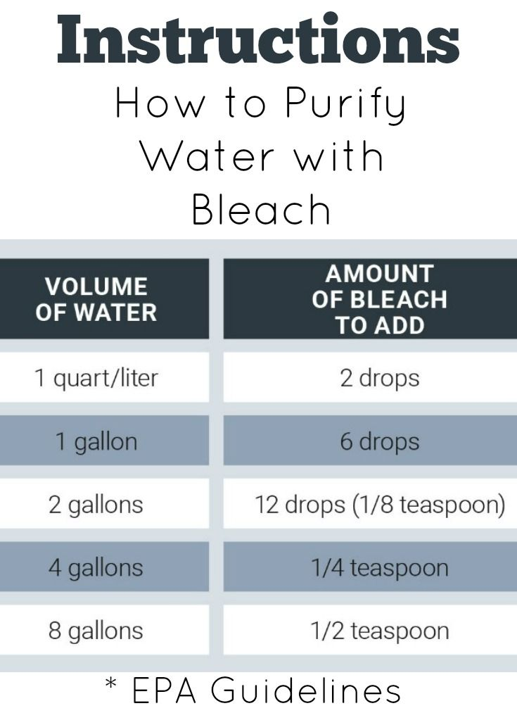 How to Purify Water with Household Bleach during a power outage. A survival tip worth knowing.