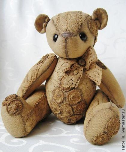 Медвежонок в винтажном стиле. Handmade.