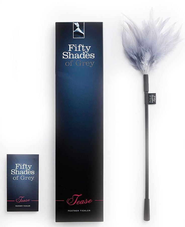Fifty Shades Of Grey Tease Feather Tickler £14.50  Tease and tickle your partner for a sensual prelude to bedroom play Increase your sensitivity and excitement Soft, luxurious feathers. #fsog #tickler