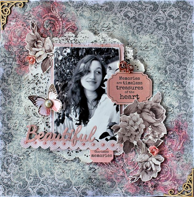 Beautiful - Kaisercraft Ma Cherie. Cathy Cafun
