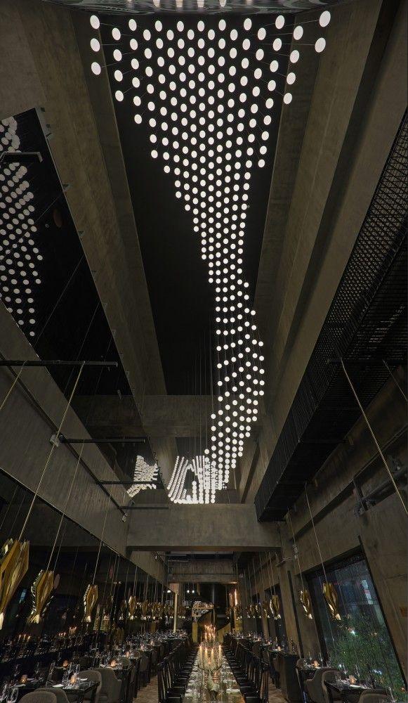 G9 Shangai / Atelier INDJ + INSA cascade xbox-kinect-controlled 'graffiti fetish'