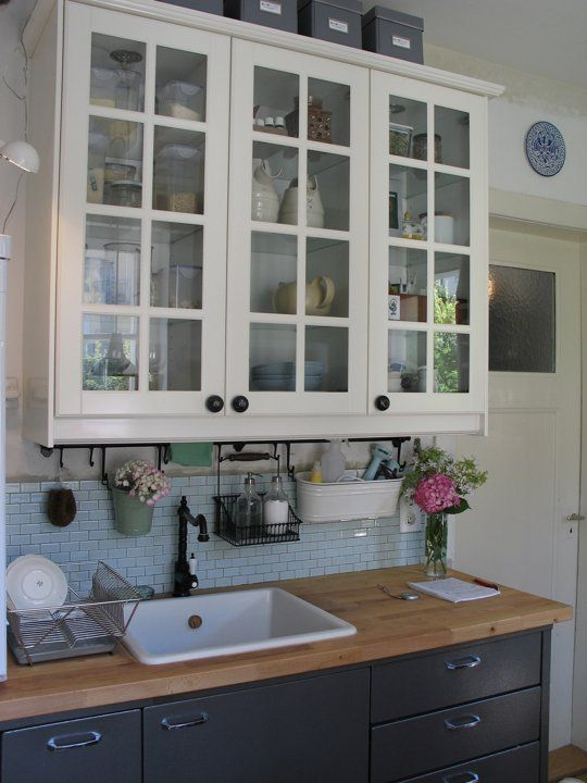 Ulrike 39 s study in contrasts kitchen i love the ikea Ikea hanging kitchen storage