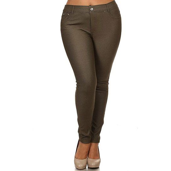 Stay on trend this season! Our jeggings for women combine comfort and style in one neat pair of high quality womens jeggings. The jeggings are composed of comfortable and durable material giving you the comfort you need as you go about your day. These pull on jeggings feature belt loops, five pockets, and a button with fly zipper in the front. Keep your belongings handy and enjoy the convenience of these jeggings with pockets. Choose from a wide selection of colors in these denim leggings…