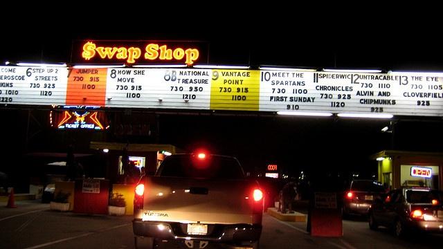 swap shop drive in.