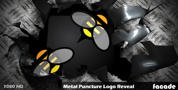 Metal Puncture Logo Reveal