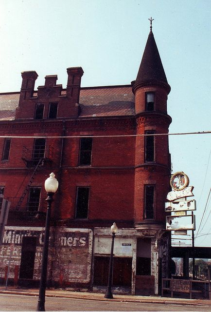 Abandoned Victorian building in Cincinnati Ohio