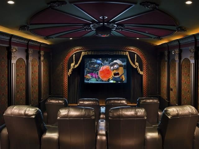 Home Theater Design Dallas Glamorous Design Inspiration