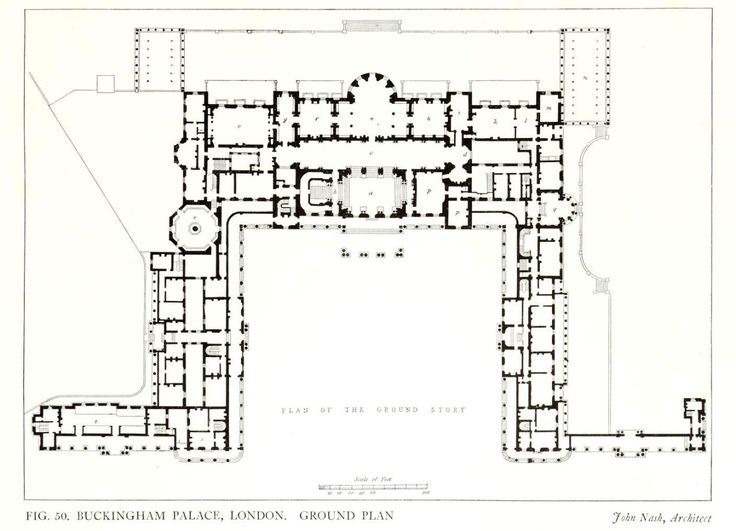 John Nash s plan for Buckingham Palace London ARCHI MAPS