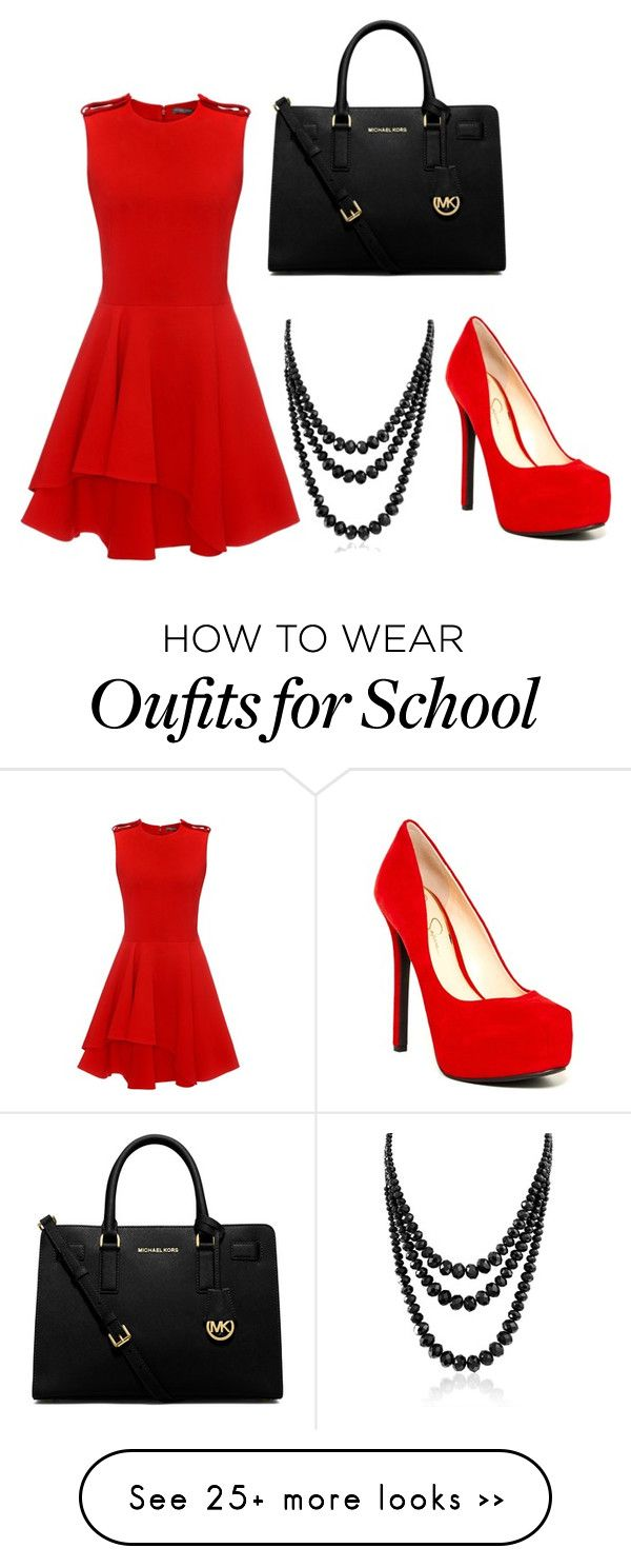 """""""Rule The School"""" by fallen-hope on Polyvore featuring Alexander McQueen, Jessica Simpson, MICHAEL Michael Kors and Bling Jewelry"""