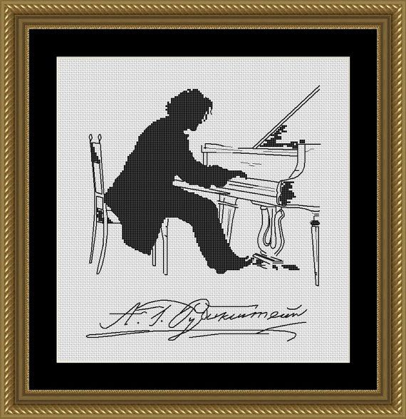 Portrait of the Composer Anton Rubinstein by by FancyworkDesign