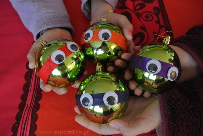 Πώς να (μη) φτιάξετε Χριστουγεννιάτικες μπάλες χελωνονιντζάκια - Aspa Online