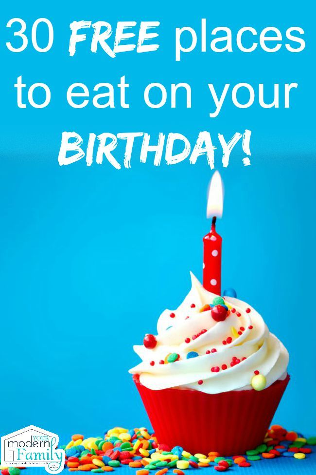 30 places to eat for free on your birthday
