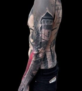 Amazing full arm tattoo