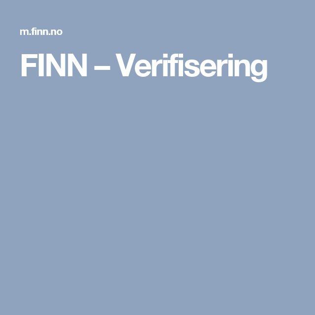 FINN – Verifisering