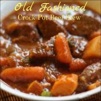Old Fashioned Crock Pot Beef Stew