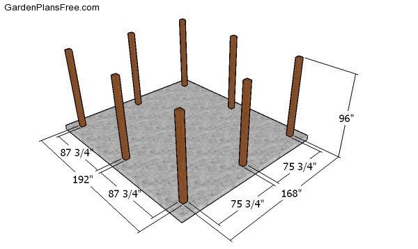 14x16 Outdoor Pavilion Plans - Free PDF Download | Free ...