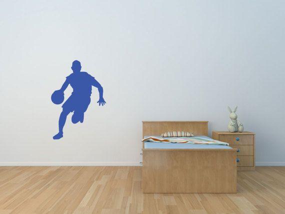 Basket Ball Decal, Wall Decal, Basketball , Sport Decal, Basketball Sticker, basketball Wall Sticker, Basketball Player, NBA (#SPBB1)