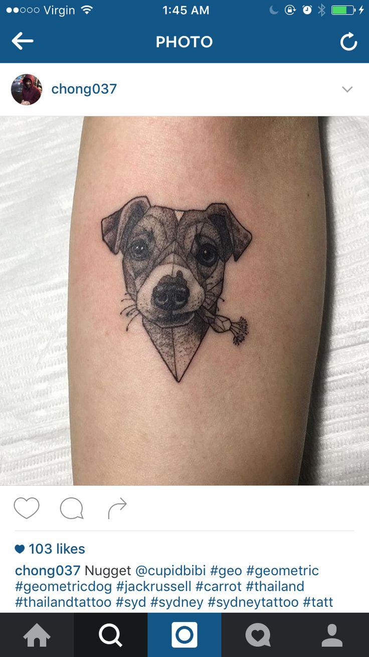 Geometric jack Russell tattoo | Hunde Tattoo | Tattoos ...