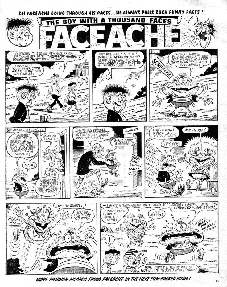 Faceache - Ken Reid. Buster 1975