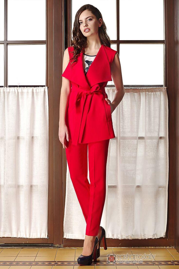 Брючный костюм /комплект Arita Style (Denissa) 1035 красный