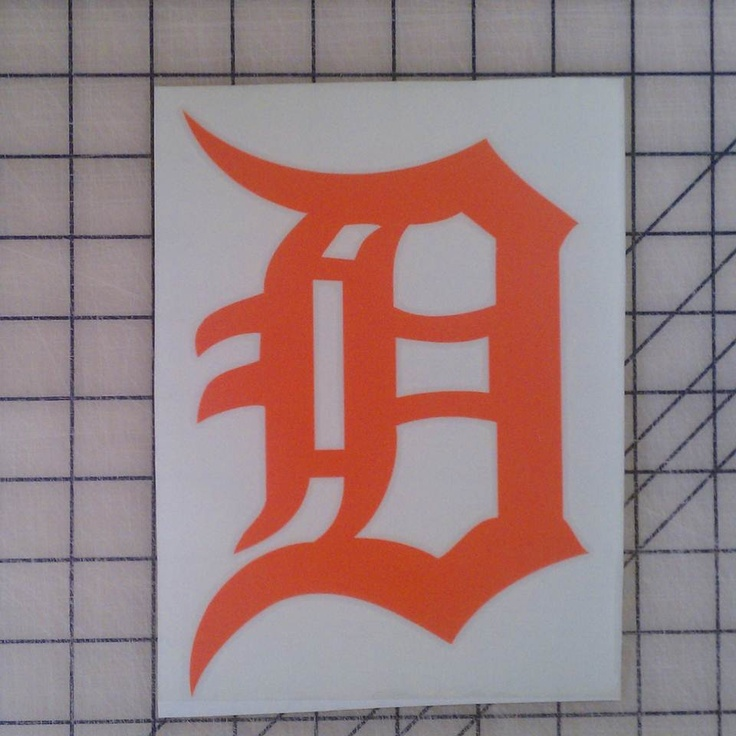 Detroit Tigers Decal for nails