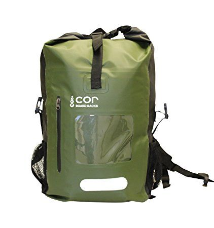 Cor Waterproof Backpack with Padded Laptop Sleeve, Green, 25 Liters