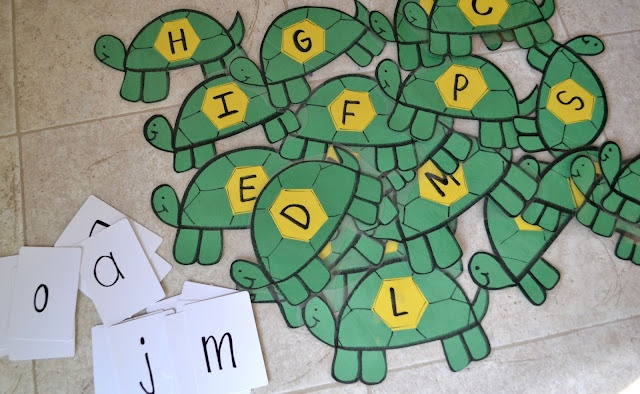 several turtle activities for preschool T t day