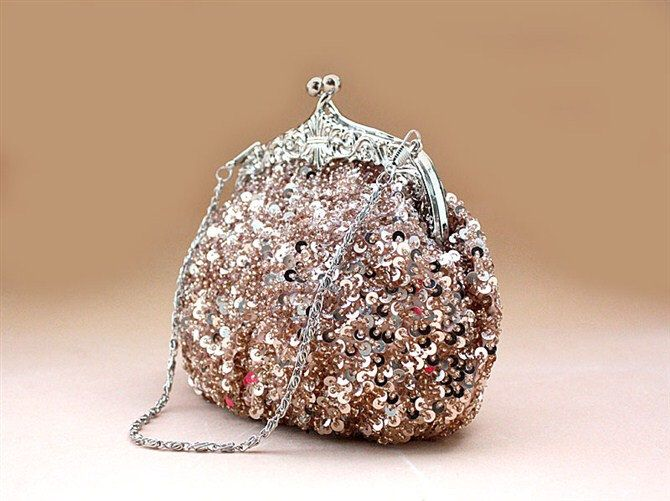 On Sale 35% OFF --Sparkly Peach Wedding Purse Evening Clutch by AmericanCherry on Etsy https://www.etsy.com/listing/95564800/on-sale-35-off-sparkly-peach-wedding